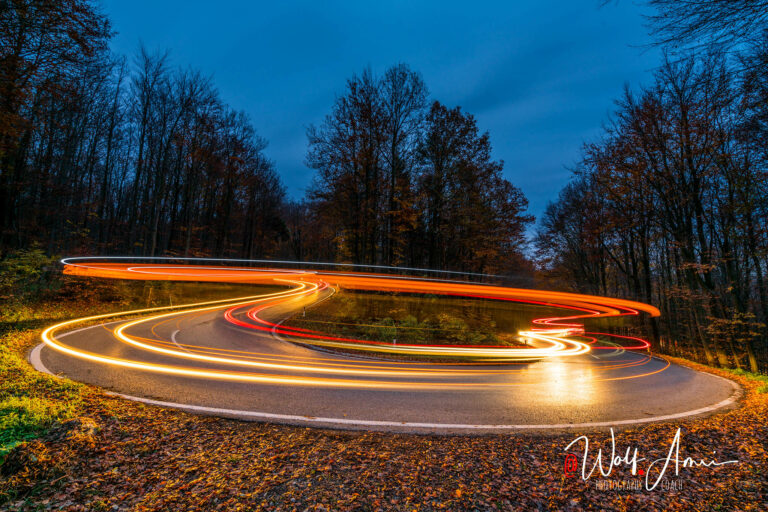 light trails created in bulb mode