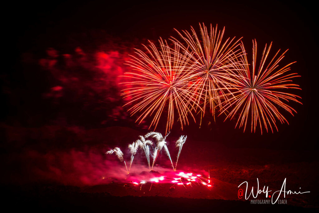fireworks with long shutter speed