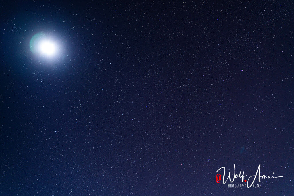 milky way and moon
