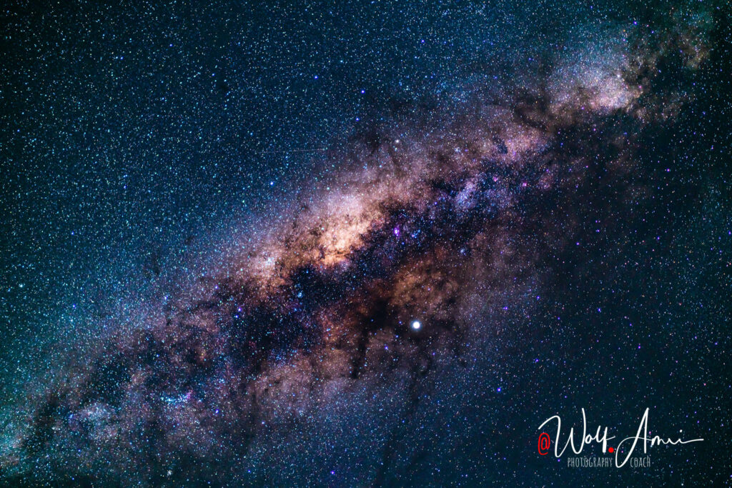center of the milky way - long exposure photograph